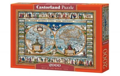 Castorland Puzzle 2000 elementów. Map of the World, 1639