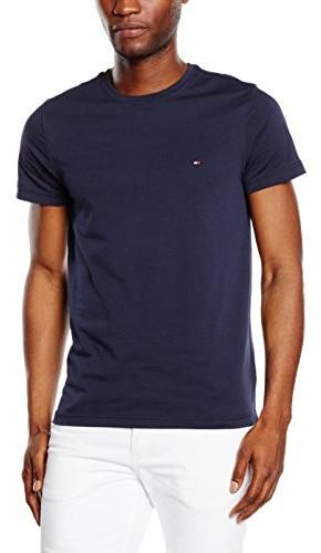 Tommy Hilfiger T-shirt  dla mężczyzn, kolor: niebieski, rozmiar: Medium B0748M4P2N