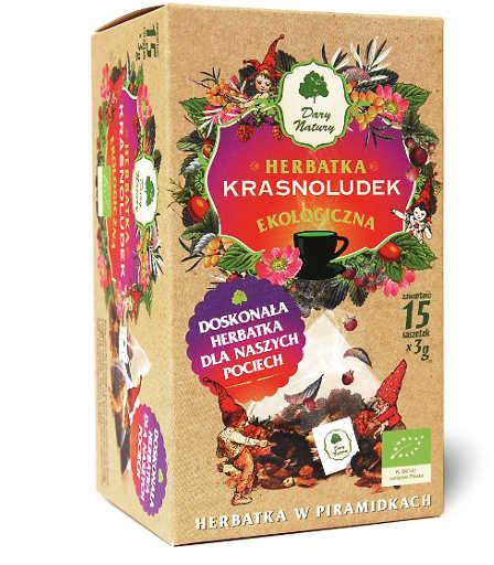 Dary Natury herbatki BIO HERBATKA DLA DZIECI KRASNOLUDEK PIRAMIDKI BIO (15 x 3 g) -