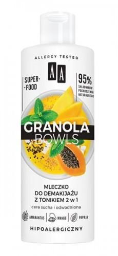 Oceanic Granola Bowls mleczko do demakijażu z tonikiem 2w1 cera sucha i odwodniona 400ml