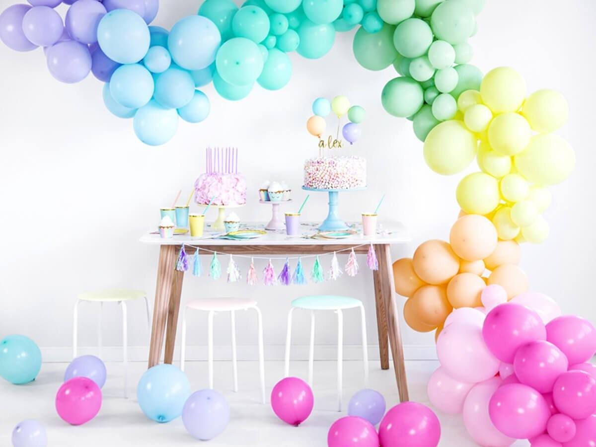 Party Deco Balony lateksowe pastelowe pomarańczowe - średnie - 10 szt. SB12P-075J-10