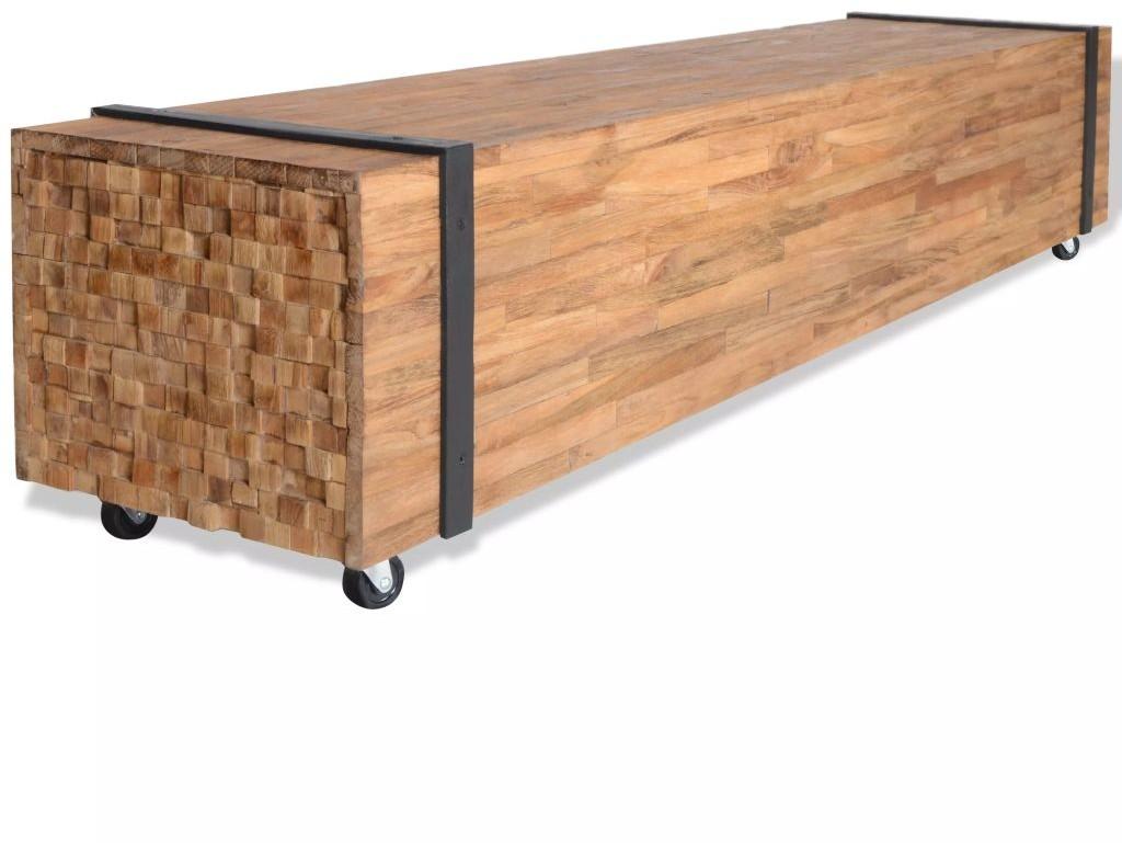 vidaXL Szafka pod telewizor z drewna tekowego, 150 x 30 cm vidaXL