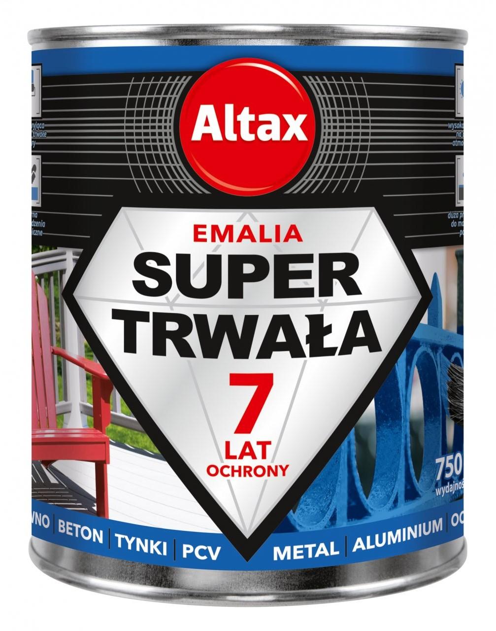 Altax Sherwin Emalia Super Trwała 0,75 L szary