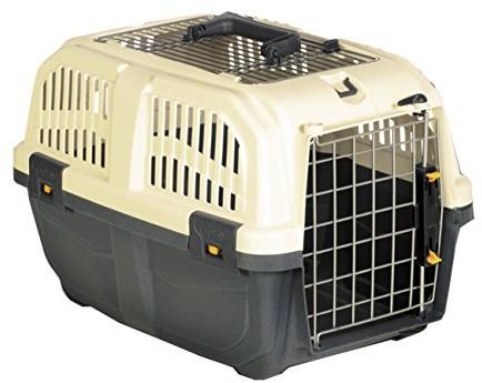 Nobby Skrzynka transportowa dla małych psów i kotów Skudo Open, szary