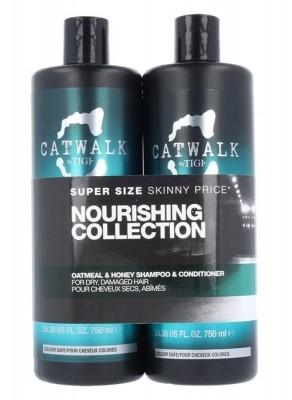 Tigi Catwalk Oatmeal & Honey zestaw 750 ml 750ml Catwalk Oatmeal & Honey Nourishing Shampoo + 750ml Catwalk Oatmeal & Honey Nourishing Conditioner W