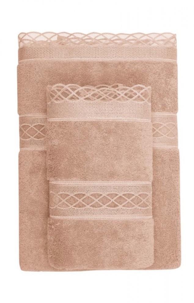 Soft Cotton Ręcznik kąpielowy SELYA 85x150 cm Śmietankowy 807701