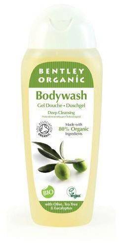 Bentley Organic GŁĘBOKO OCZYSZCZAJĄCY Żel pod Prysznic z Oliwką, Olejkiem Herbacianym i Eukaliptusem, 250 ml eco-BEN01671-0