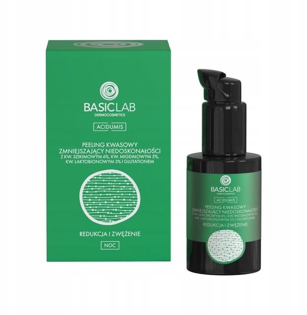 BasicLab peeling kwasowy zmniejszający niedoskonał