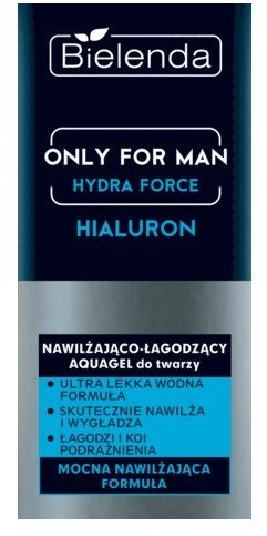 Bielenda Bielenda Only for Man Nawilżająca-łagodzący krem do twarzy Hialuron 50ml 1234595695