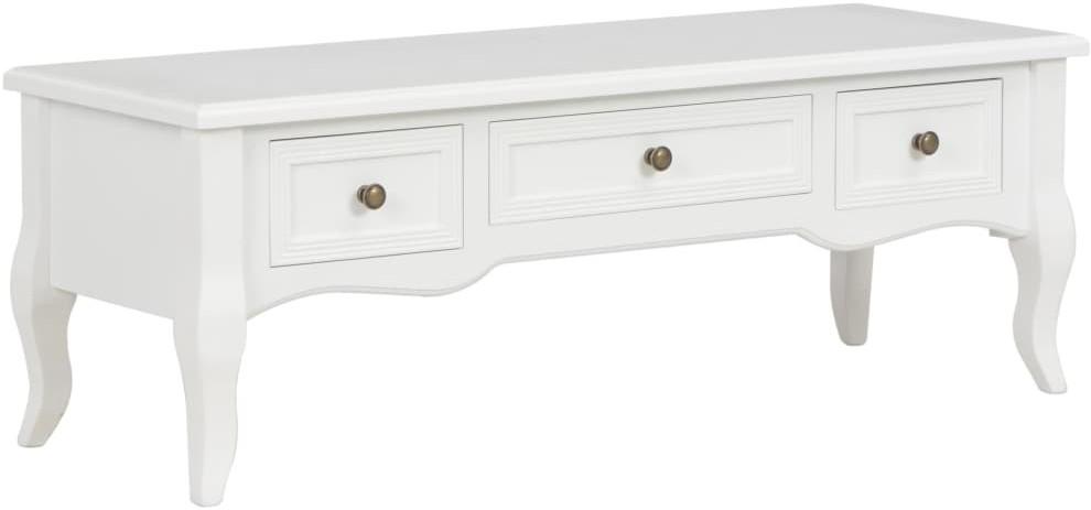 vidaXL Szafka pod TV, biała, 100 x 35 x 35 cm, drewno sosnowe