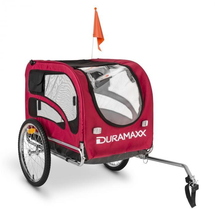 DURAMAXX King Rex Przyczepka rowerowa do przewozu psów 250 l 40k g Rura stalowaczarno-czerwony BCT1-King-Rex-II