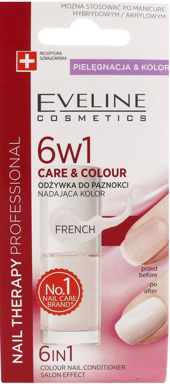 Eveline Nail Therapy 6w1 Care & Colour Odżywka Do Paznokci Nadająca Kolor French 5ml