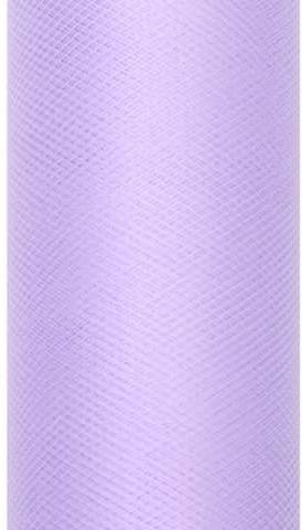 PartyDeco Tiul gładki, liliowy, 0,15 x 9 m TIU15-004