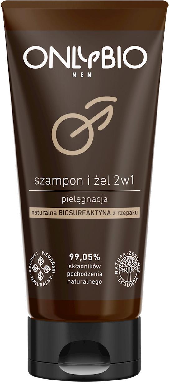 Bio ONLY SZAMPON I ŻEL 2w1 PIELĘGNACYJNY DLA MĘŻCZYZN TUBA 200 ml - ONLY