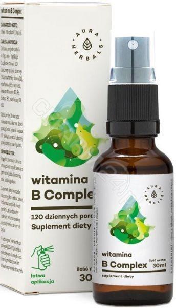 AURA HERBALS Aura Globe Trade Witamina B Complex 30ml - suplement diety