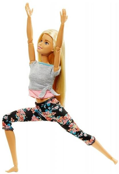 top Mattel Barbie Made To Move Kwiecista Lalka Blondynka FTG80 FTG81