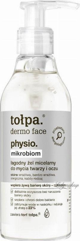 Tołpa Dermo Face Physio - Łagodny żel micelarny do mycia twarzy i oczy - 195 ml