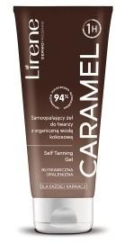 Lirene Samoopalający żel do twarzy z organiczną wodą kokosową CARAMEL, 75 ml 10E08228-01-01