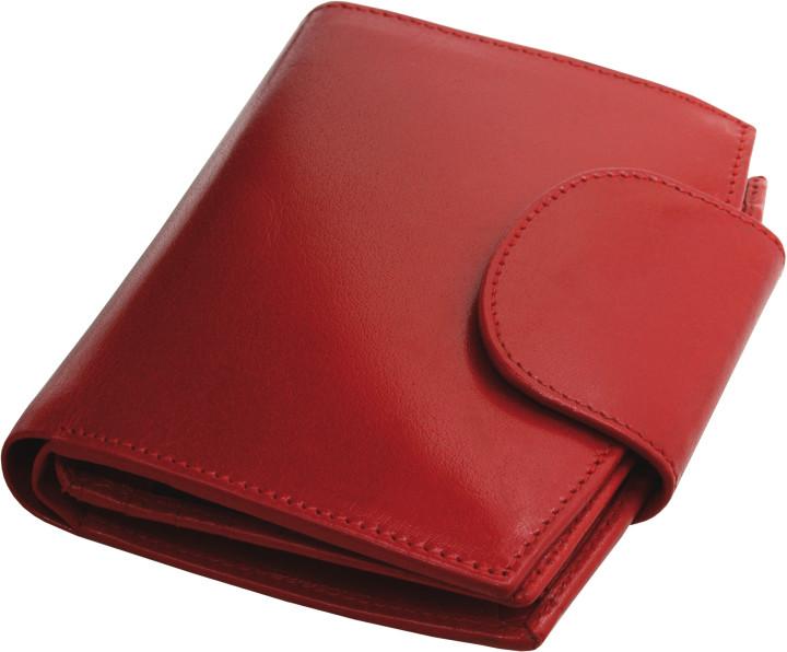 Kemer Portfel damski skórzany 31901311 Czerwony - czerwony 31901311-0