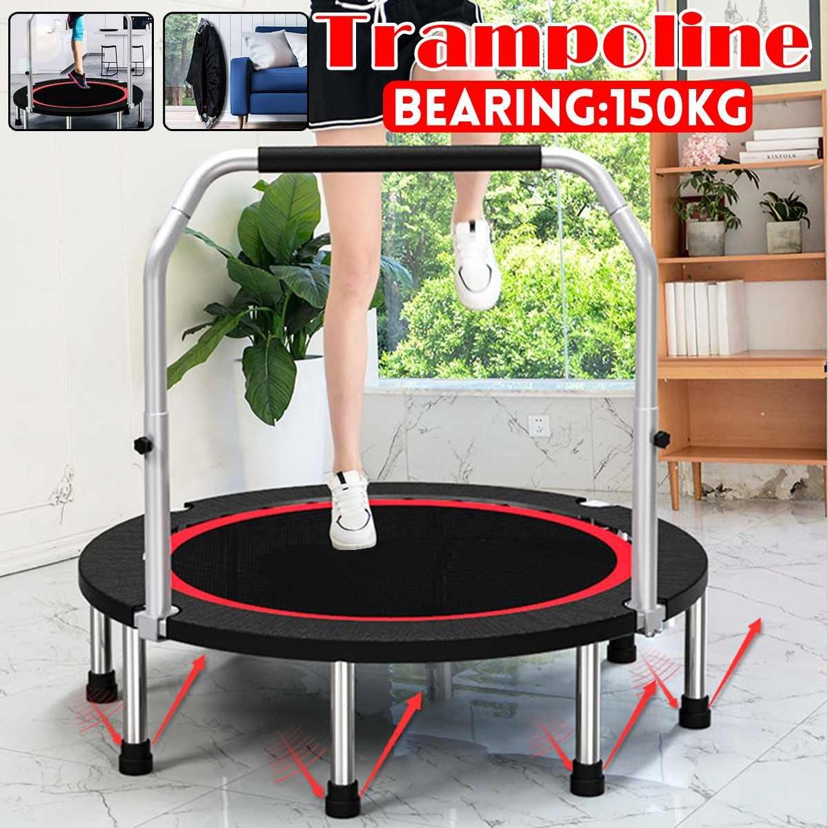 AliExpress 40 cali 100x22cm trampolina Bouncing Bed składane skoki Sport Fitness ćwiczenia narzędzia z uchwytem