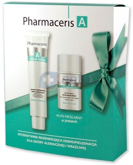 Dr Irena Eris Pharmaceris A CORNEO-SENSILIUM korneo-naprawczy krem łagodzący 75ml + SENSI-MICELLAR Nawilżający płyn micelarny do oczyszczania i demakażu twarzy i oczu 50ml (ZESTAW)