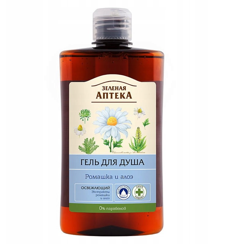 Green Pharmacy Żel pod prysznic - Rumianek i Aloe Vera 4308