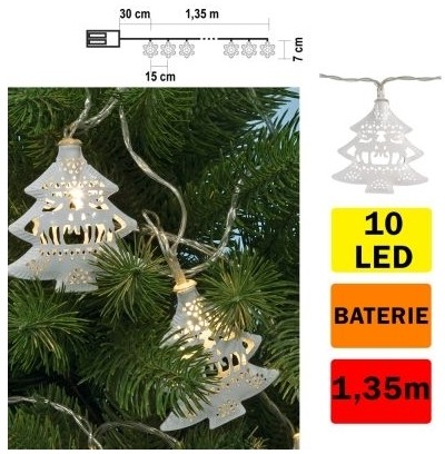 FK Technics LED Łańcuch świąteczny choinka 10xLED/2xAA