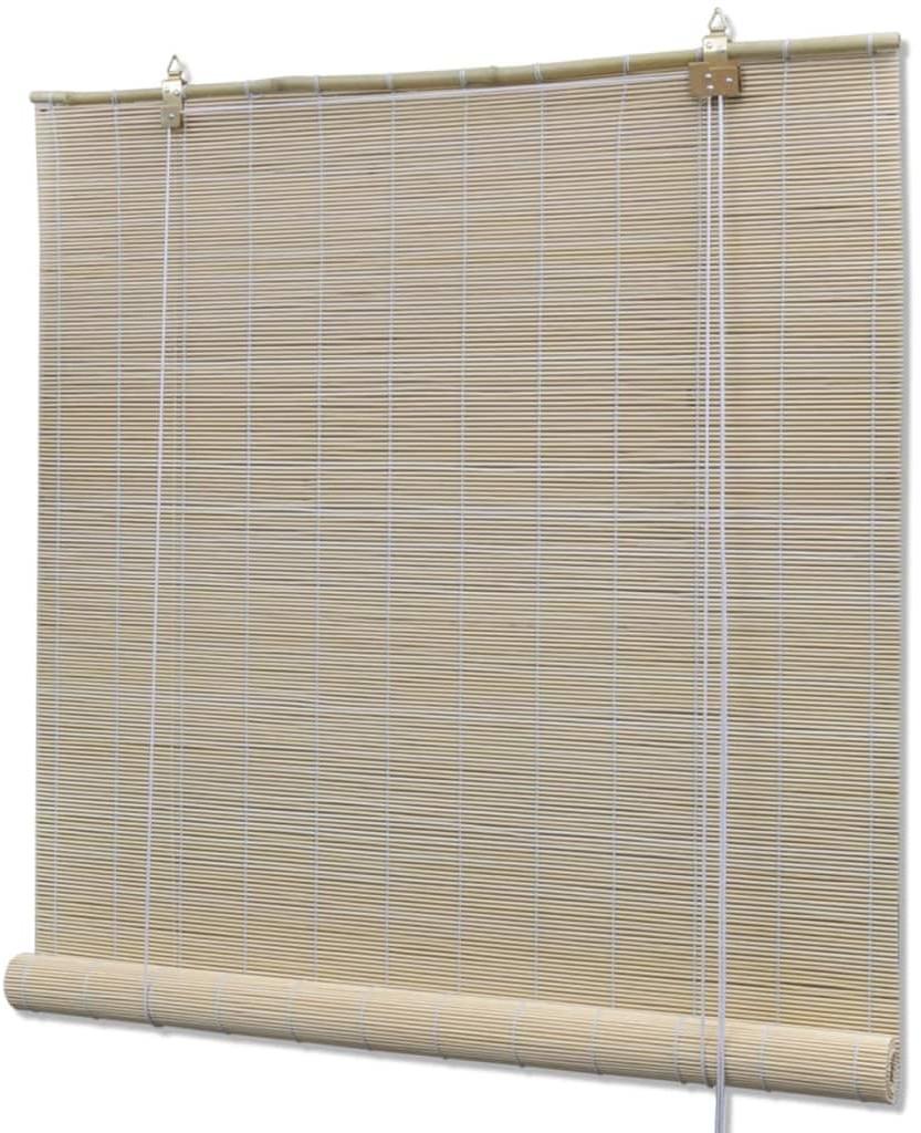 vidaXL Roleta bambusowa, 100x220 cm, naturalna