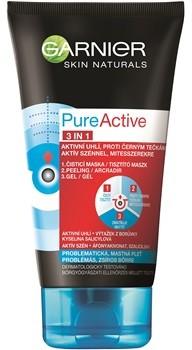 Garnier Pure Active 3-w-1 aktywny żel oczyszczający pory do cery tłustej i problematycznej 150 ml
