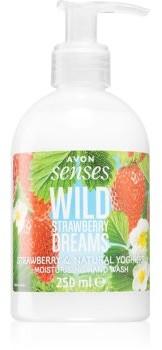 Avon Senses Wild Strawberry Dreams mydło do rąk w płynie o zapachu truskawek 250 ml