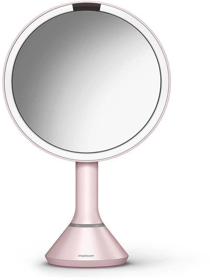 SimpleHuman Lustro sensorowe z kontrolą natężenia światła - 20 cm - różowe / 0838810021560