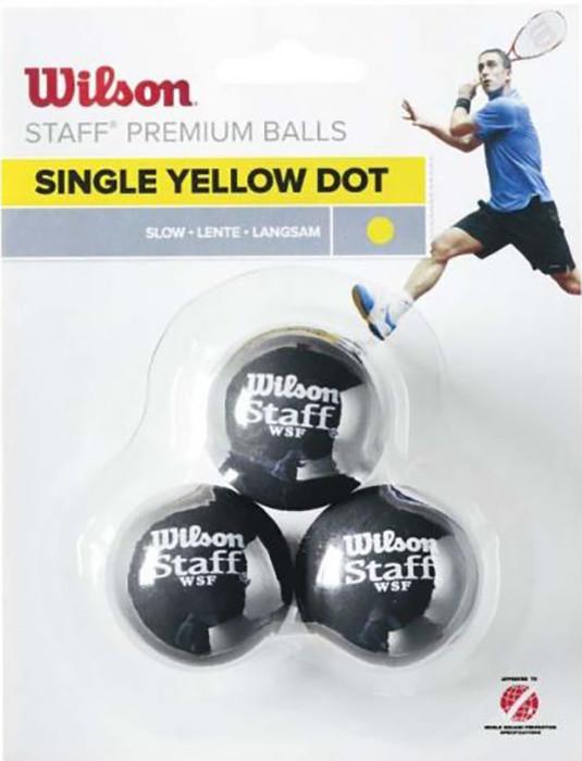 Wilson 3-Pack 1 kropka żółta WRT618300