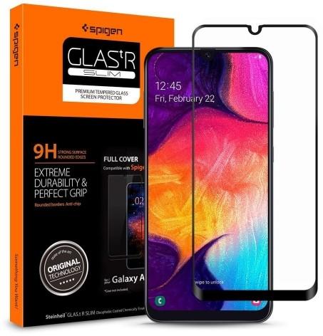 Spigen Szkło do etui Glas.tr Slim Galaxy A40, czarne 8809671011474