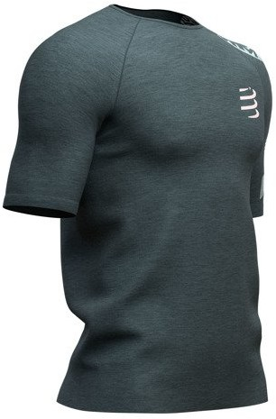 CompresSport Męska koszulka biegowa Training T-Shirt BORN TO SWIM BIKE RUN 2019 ciemnoszara