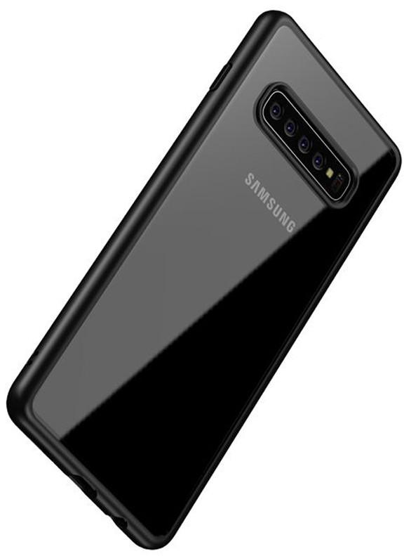Samsung crong Crong Clear Cover Etui Galaxy S10+ czarny