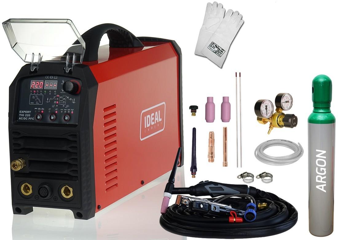 Ideal Expert TIG 220 AC/DC Pulse PFC Standardowe EXTIG220AC