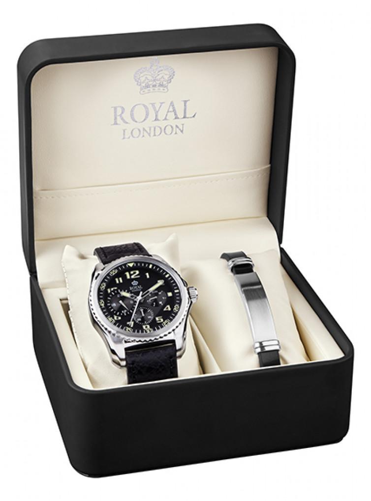 Royal London zestaw zegarek z bransoletą 41328 01 SET