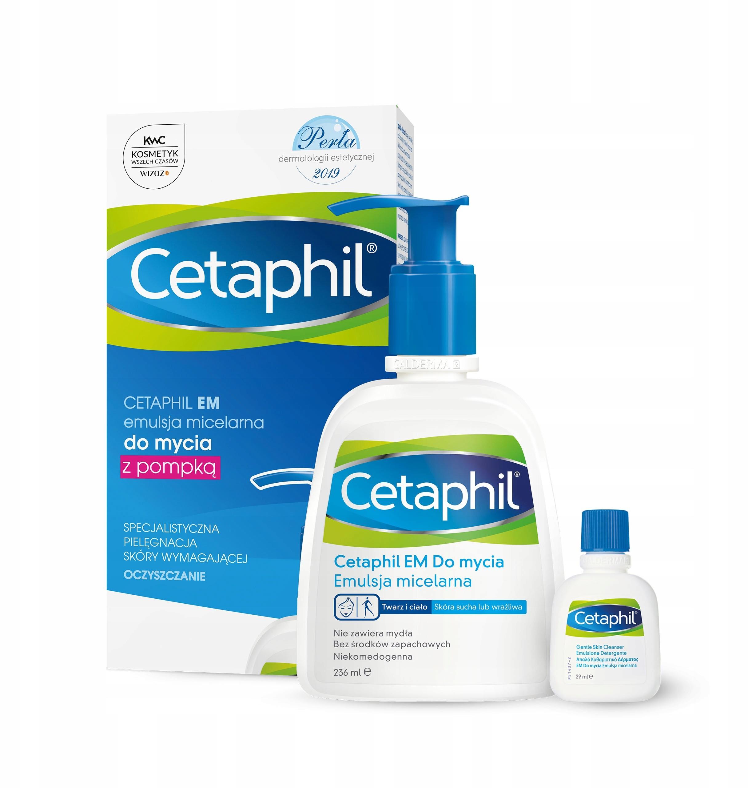 Cetaphil Em Emulsja 236 ml i mini produkt Em 29 ml