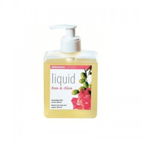 SODASAN sodasan Liquid Rose-Olive płynne mydło w 300ML czółenka Penderekologiczna Bio mydła (bio) SD7636