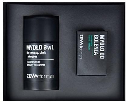 Zestaw Komplet Golibrody mydło do golenia 85ml + mydło 3w1 do twarzy ciała i włosów 85ml Zew For Men