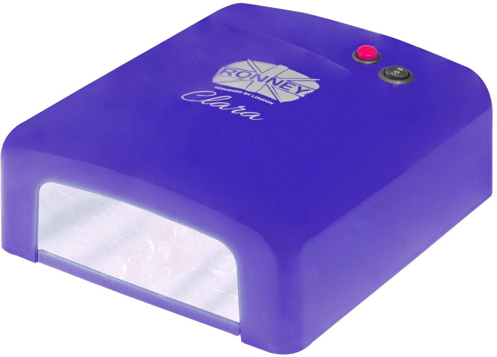 ronney RONNEY CLARA Profesjonalna lampa do paznocki UV 36W (GY-UV-818) - NIEBIESKA