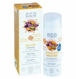 Eco Cosmetics wegański krem na słońce faktor SPF 50+ dla dzieci i niemowląt, 50 ml