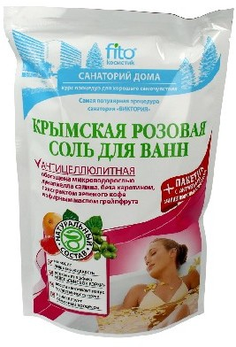 Fitocosmetik FITOCOSMETICS Sól do kąpieli krymska różowa antycellulitowa 530g FITOCOSMETICS
