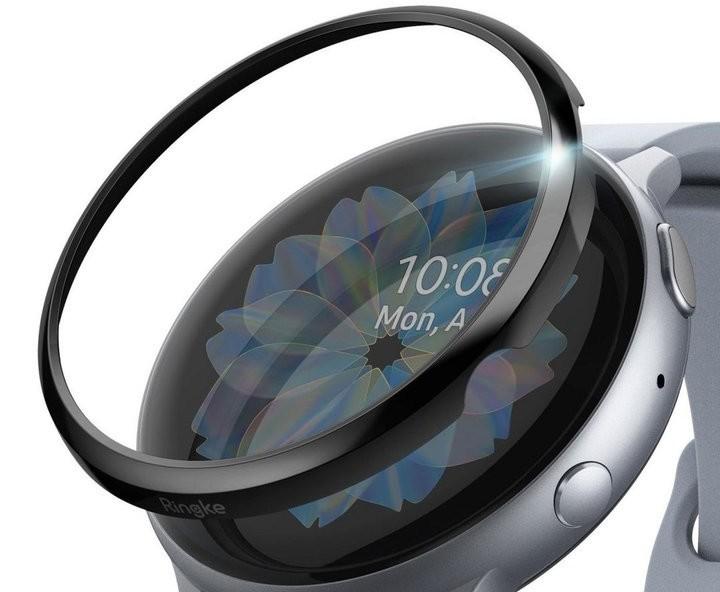 Ringke Nakładka Ringke Bezel do Galaxy Watch Active 2 44mm stal black 03 + Folia hydrożelowa x3 Alogy 039989