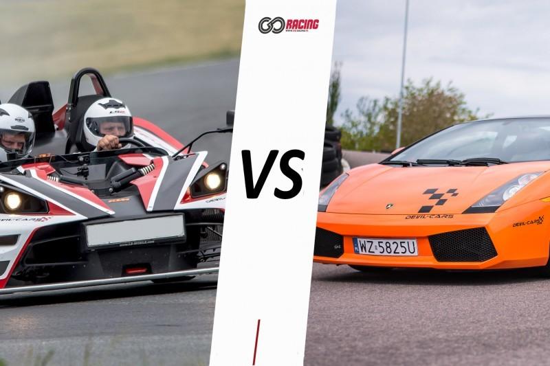 go racing Lamborghini Gallardo vs KTM X-BOW : Ilość okrążeń - 2, Tor - Tor Białystok, Usiądziesz jako - Kierowca