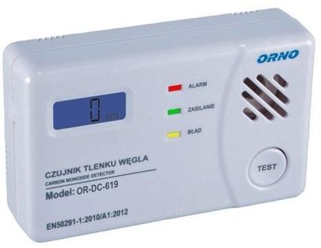 Orno czujnik tlenku węgla (czadu) OR-DC-619