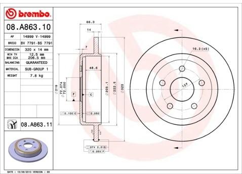 BREMBO 08.A863.11