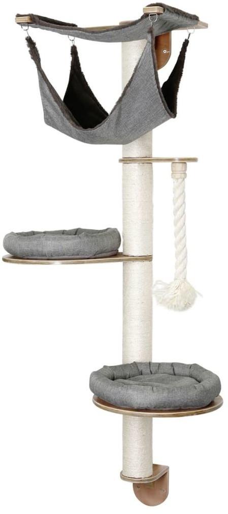 Kerbl Drapak dla kota naścienny Dolomit 2.0 Tofana, szary, 160 cm 81545