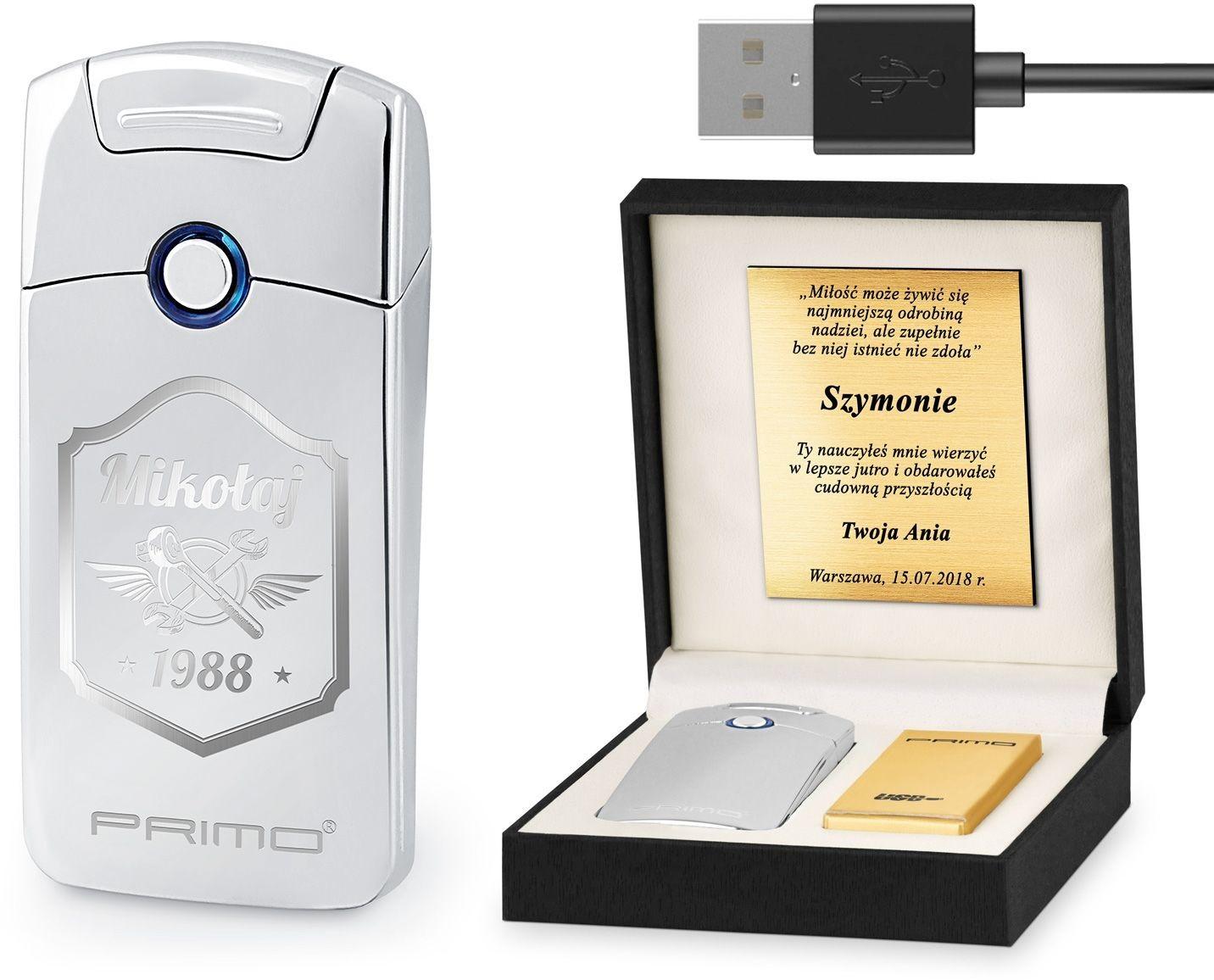 Murrano Zapalniczka Plazmowa USB z GRAWEREM MOTO ZP1-BB-014