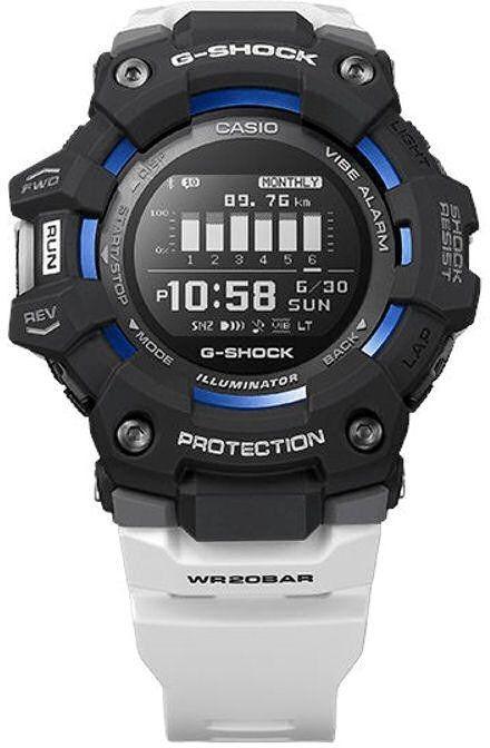 Casio G-Shock G-SQUAD GBD-100-1A7ER z krokomierzem - czarny biały